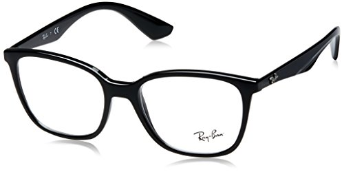 Ray Ban Optical Für Mann Rx7066 Shiny Black Kunststoffgestell Brillen, 52mm