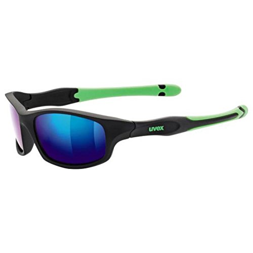 UVEX Sportsonnenbrille Sportstyle 507, Black Mat/Green/Lens Mirror Green, One Size, 5338662716