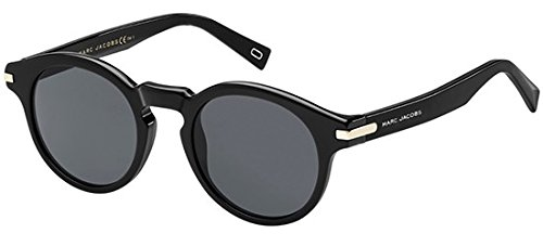 Marc Jacobs – MARC 184/S, Rund, Acetat/Metall, Herrenbrillen, BLACK/GREY(807/IR), 49/22/145
