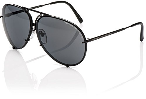 Porsche Design – P8478, Pilot (tropfenförmig), Titan, Herrenbrillen, DARK RUTHENIUM/GREY GREEN SEMI-MIRROR + BROWN LENS(D/V656), 66/10/135