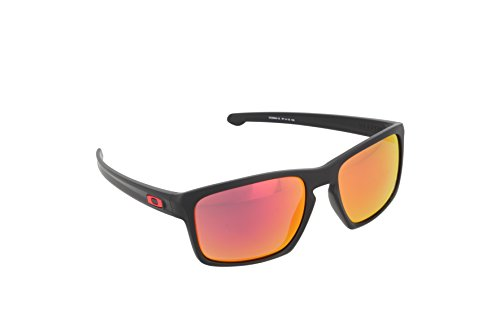 Oakley Sonnenbrille Sliver Matte Black with Ruby Iridium, One size, OO9262-12