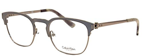 Calvin Klein Collection – CK8012, Rechteckig, Metall, Herrenbrillen, GREY(016 A), 49/21/140