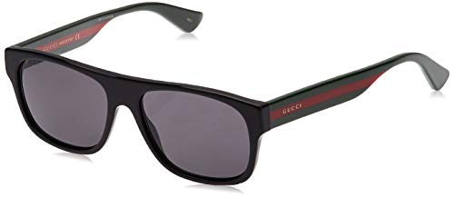 Gucci GG0341S 001 Black GG0341S Rectangle Sunglasses Lens Category 3 Size 56mm