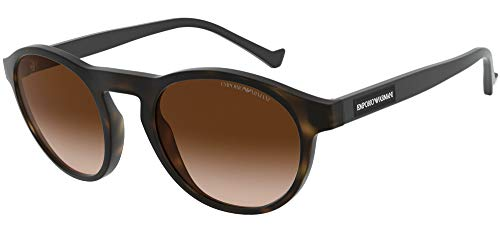 Emporio Armani Unisex 0EA4138 Sonnenbrille, Dark Havana/Brown Shaded, 52/22/143